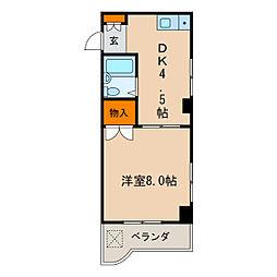 マザックマンション千代田[4階]の間取り