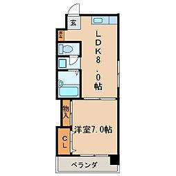 シティライフ栄[5階]の間取り