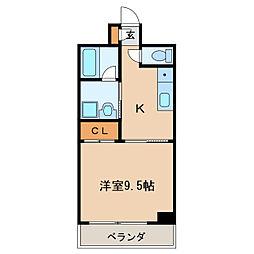 ライジングヴィラ葵[6階]の間取り