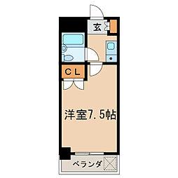 第13オーシャンビル[3階]の間取り