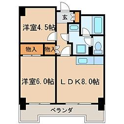 第13オーシャンビル[9階]の間取り