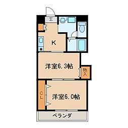 プレステージ名古屋[5階]の間取り