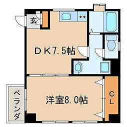 第二加藤ビル[4階]の間取り