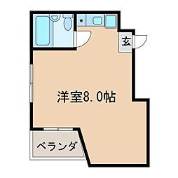 ホワイトハウス新栄[4階]の間取り