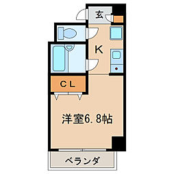 ドミール新栄[3階]の間取り