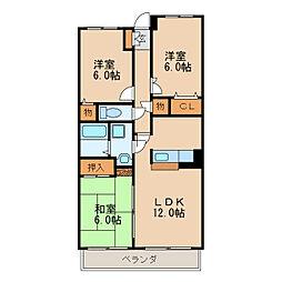 ラルゴ白壁[3階]の間取り