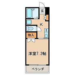 アビターレ筒井[3階]の間取り
