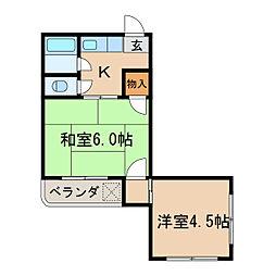 志水ビル[2階]の間取り