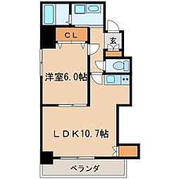 ヒルズ新栄[4階]の間取り