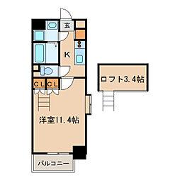 クピットガーデン千代田[10階]の間取り