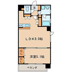 グランデュ−ル東桜[8階]の間取り
