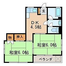 萩ビル[4階]の間取り