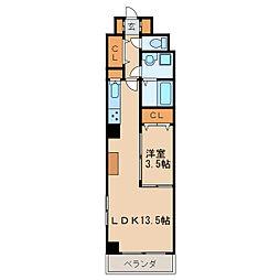 ライジング泉コートII[5階]の間取り