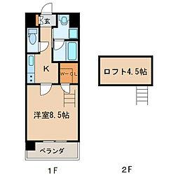 メイプルコート布池[9階]の間取り
