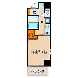 アーク栄本町通マンション[11階]の間取り