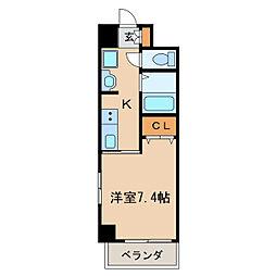 アーク栄本町通マンション[6階]の間取り