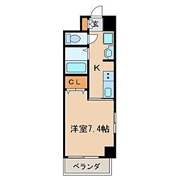アーク栄本町通マンション[5階]の間取り