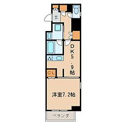 レジディア高岳[6階]の間取り