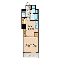 レジディア高岳[15階]の間取り