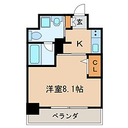 愛知県名古屋市東区白壁4丁目の賃貸マンションの間取り