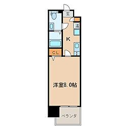 プレサンスmiu新栄[7階]の間取り