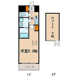 エステムコート名古屋・栄デュアルレジェンド[9階]の間取り