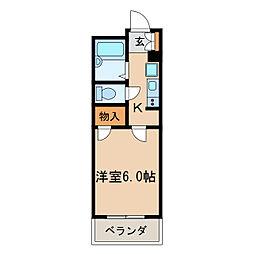 レオパレスTAKAOKA[1階]の間取り