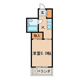 七福第五ビル[4階]の間取り