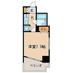 ライオンズマンション撞木[7階]の間取り