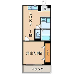 K2スクエア[3階]の間取り