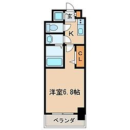 プレサンス栄ブリオ[4階]の間取り