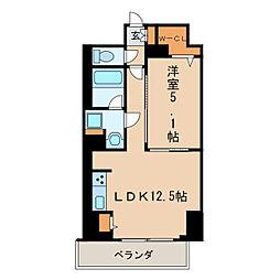 プレミアムコート新栄[2階]の間取り