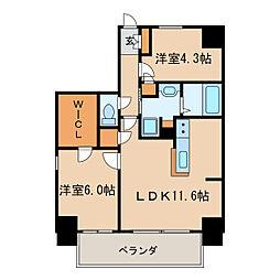 Kamiya Bldg 東桜[9階]の間取り