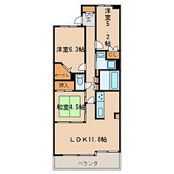 レジディア泉[9階]の間取り