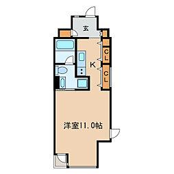 N.S.ZEAL泉[4階]の間取り
