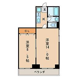 ヒルトップハウス[5階]の間取り