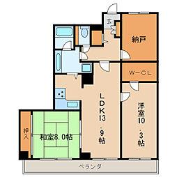 アパルトメント栄5[4階]の間取り