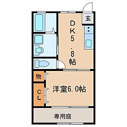 撞木ハウス[1階]の間取り