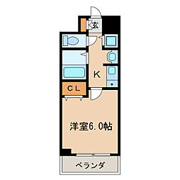 プレサンス名古屋城前[6階]の間取り