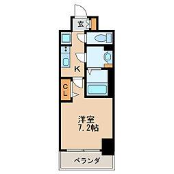 プレサンス新栄リベラ 10階1Kの間取り