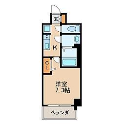 プレサンス新栄リベラ 12階1Kの間取り