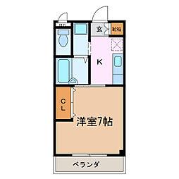 ブリーズII[2階]の間取り