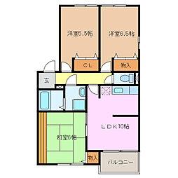 スプリングヒルズI・II(三好)[1階]の間取り