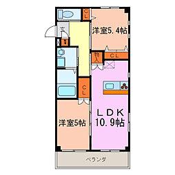 ロイヤルモネット[2階]の間取り