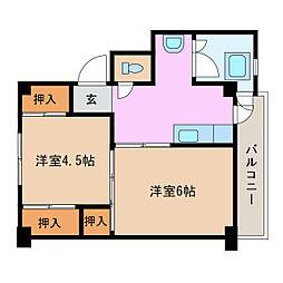 ビレッジハウス東郷2号棟[3階]の間取り