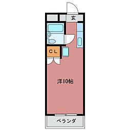 三重県亀山市川崎町の賃貸アパートの間取り