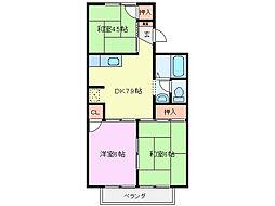 セジュール和田[2階]の間取り