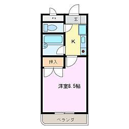 ビディエスTAMAGAKIマンション[102号室]の間取り