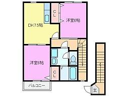 ミレニアJ.K II[2階]の間取り