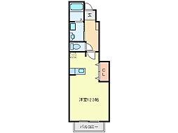 三重県亀山市関町会下の賃貸アパートの間取り